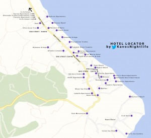 kavos-hotel-map