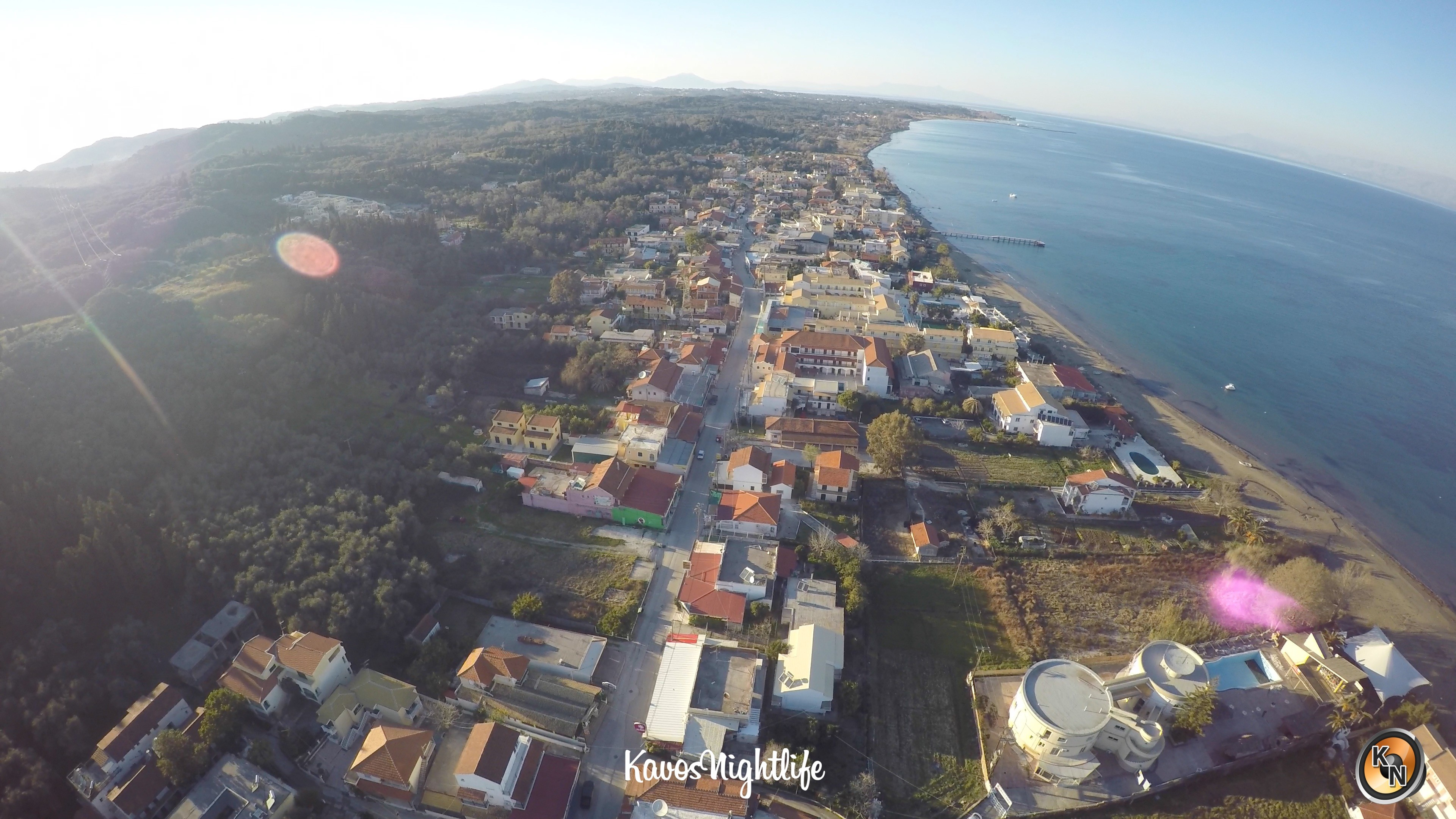 In February 2017 We Sent Our Gopro Hero4 Into The Air Mounted To Kavos Nightlife Quadcopter Film Strip From North South