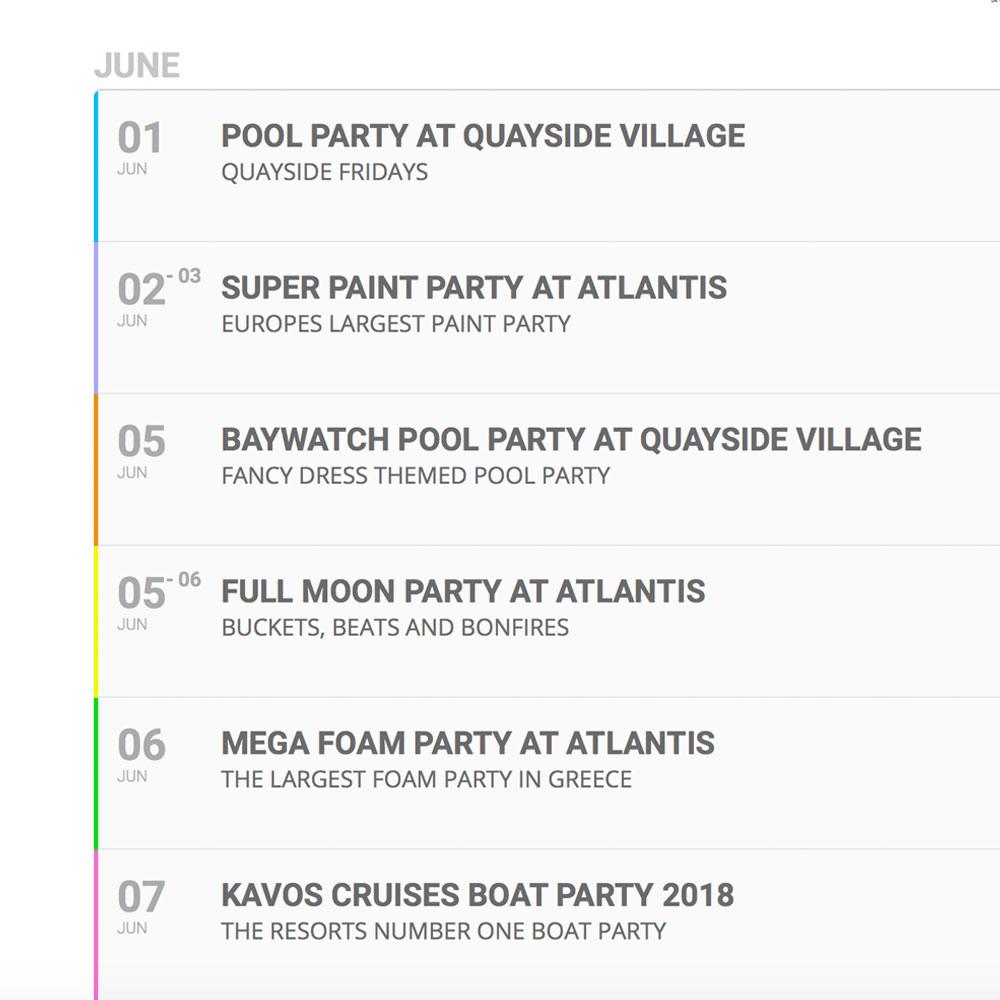 Kavos Lineup Summer 2020